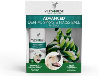 Vets Best Dental Spray & Floss Ball